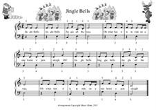 Jingle Bells, für Klavier: For easy version by James Lord Pierpont