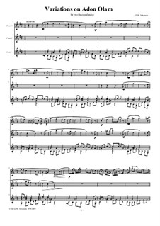 Variations on Adon Olam: For two flutes and guitar by David W Solomons