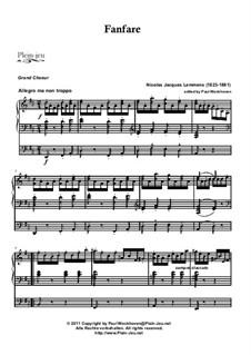 Leichtes Trios: Nr.27 Fanfare by Jacques-Nicolas Lemmens