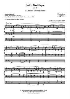 No.3 Prière à Notre-Dame: Für Orgel (edited by Paul Weckhoven) by Léon Boëllmann