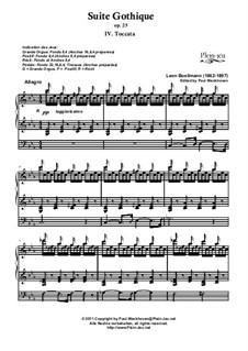No.4 Toccata: Für Orgel by Léon Boëllmann
