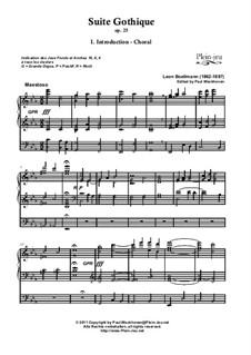 Vollständiger Satz: Für Orgel by Léon Boëllmann