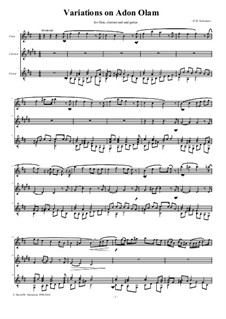 Variations on Adon Olam: For flute, clarinet and guitar by David W Solomons