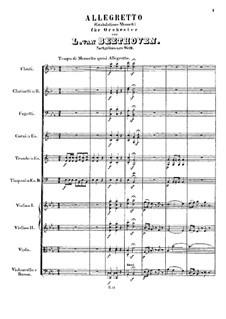 Gratulations-Menuett, WoO 3: Partitur by Ludwig van Beethoven