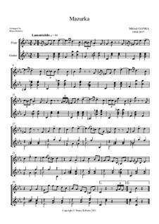 Mazurka in Es-Dur: Mazurka für Flöte und Klavier by Michail Glinka