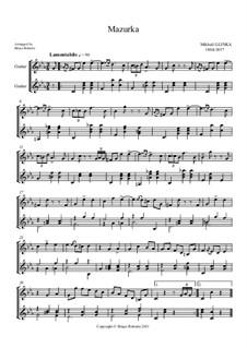 Mazurka in Es-Dur: Version für zwei Gitarren by Michail Glinka