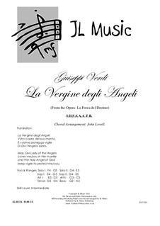 Die Macht des Schicksals: La Vergine degli Angeli, for mixed choir and piano by Giuseppe Verdi