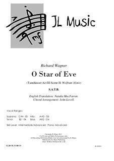 Akt III. Romanze von Wolfram: Für Chor und Klavier by Richard Wagner