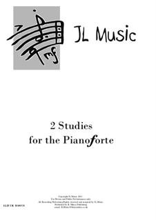 2 Studies for Pianoforte: 2 Studies for Pianoforte by John Lovell
