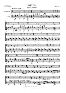 Sakura (Cherry Blossom): Für Cello und Gitarre by folklore