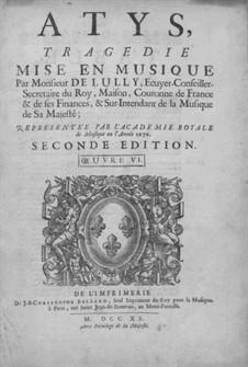 Atys. Prolog, LWV 53: Atys. Prolog by Jean-Baptiste Lully