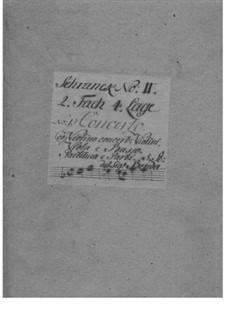 Konzert für Violine und Orchester in C-Dur, L II:1: Vollpartitur by Franz Benda