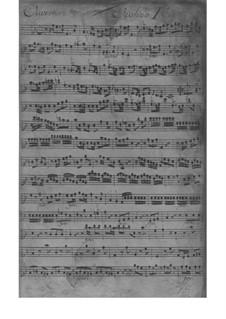 Suite in F-Dur, Fwv K:F 3: Suite in F-Dur by Johann Friedrich Fasch