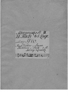 Triosonate für Violine, Flöte und Basso Continuo in e-Moll, QV 2:21: Stimmen by Johann Joachim Quantz