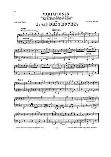 Variationen über Thema des Grafen Waldstein, WoO 67: Für Klavier, vierhändig by Ludwig van Beethoven