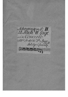 Konzert für zwei Flöten und Orchester in G-Dur, QV 6:7: Teil I – Stimmen by Johann Joachim Quantz