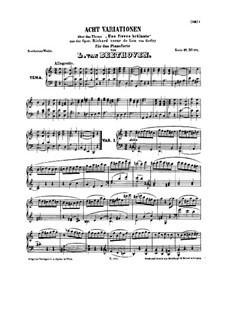 Acht Variationen über Thema aus 'Richard Coeur de Lion' von Grétry, WoO 72: Für Klavier by Ludwig van Beethoven