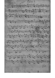Triosonate für zwei Violinen und Basso Continuo in h-Moll, TWV 42:h7: Triosonate für zwei Violinen und Basso Continuo in h-Moll by Georg Philipp Telemann
