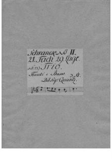 Triosonate für zwei Flöten und Basso Continuo in Es-Dur, QV 2:Anh.10: Triosonate für zwei Flöten und Basso Continuo in Es-Dur by Johann Joachim Quantz