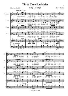 Three Carol Lullabies: Sing Lullaby by Piers Maxim