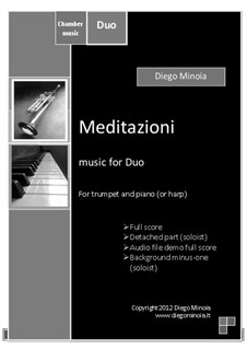 Meditazioni: Duo for trumpet and piano (or harp) with audio files demo full and minus one by Diego Minoia