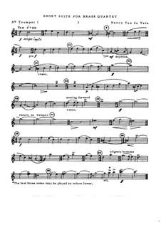 Short Suite for Brass Quartet: Stimmen by Nancy Van de Vate