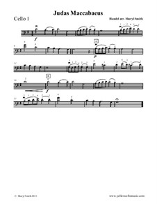 Judas Makkabäus, HWV 63: Theme, for beginner cello quartet (four cellos) by Georg Friedrich Händel