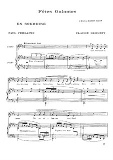Fêtes galantes: Vollsammlung, L.80, L.104 by Claude Debussy