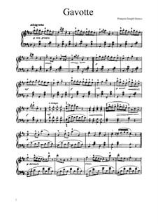 Gavotte in D-Dur: Für Klavier by François Joseph Gossec