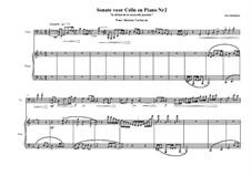 Cello sonata No.2, MVWV 655: Cello sonata No.2 by Maurice Verheul