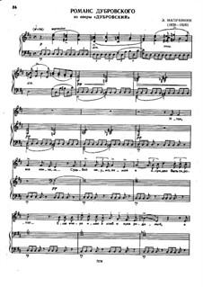Dubrovsky: Romance of Dubrovsky by Eduard Napravnik