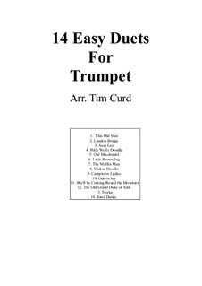 Vierzehn leichte Duos: Für zwei Trompeten by Ludwig van Beethoven, Stephen Foster, folklore, Unknown (works before 1850)