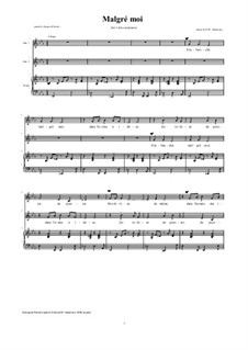 Malgré Moi: For two alto voices and piano by David W Solomons