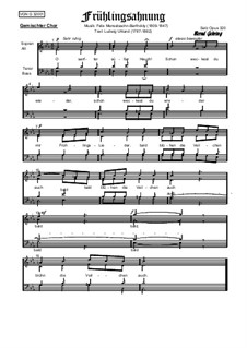 Sechs Lieder, Op.48 : Nr.1 Frühlingsahnung, Op.320 by Felix Mendelssohn-Bartholdy