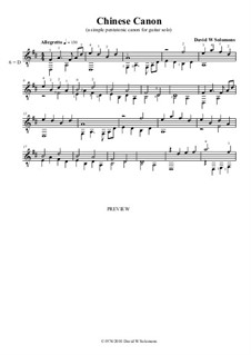 Chinese canon: For guitar solo by David W Solomons