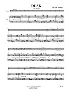 Dusk: Für Viola und Klavier by David W Solomons