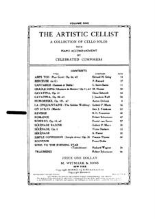Rêverie für Violine (oder Cello) und Klavier: Partitur, Cellostimme by Benoit Constant Fauconier