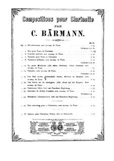 Quartett für Klarinette und Streicher, Op.18: Quartett für Klarinette und Streicher by Heinrich Joseph Bärmann