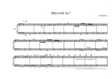 Prelude No.7 for piano, MVWV 88: Prelude No.7 for piano by Maurice Verheul