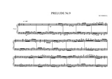 Prelude No.9 for piano, MVWV 90: Prelude No.9 for piano by Maurice Verheul