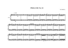 Prelude No.10 for piano, MVWV 91: Prelude No.10 for piano by Maurice Verheul