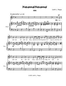 Hosanna! Hosanna!: For SSA choir by Joysong