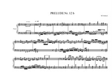 Prelude No.12b for piano, MVWV 94: Prelude No.12b for piano by Maurice Verheul