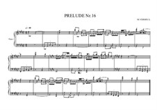Prelude No.16 for piano, MVWV 98: Prelude No.16 for piano by Maurice Verheul