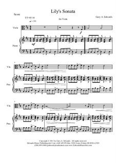 Lily's Sonata: Lily's Sonata by Gary Edwards