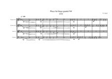 Piece for brass quartet No.4 (22), MVWV 108: Piece for brass quartet No.4 (22) by Maurice Verheul