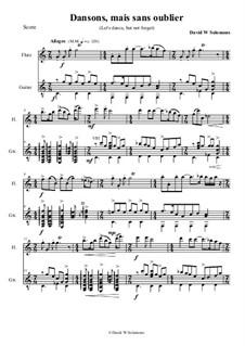 Dodo Titite (Dansons mais sans oublier) - Haitian lullaby (last movement) - for flute and guitar: Dodo Titite (Dansons mais sans oublier) - Haitian lullaby (last movement) - for flute and guitar by David W Solomons