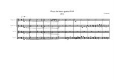 Piece for brass quartet No.14 (41), MVWV 118: Piece for brass quartet No.14 (41) by Maurice Verheul