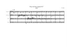 Piece for brass quartet No.17 (59), MVWV 121: Piece for brass quartet No.17 (59) by Maurice Verheul