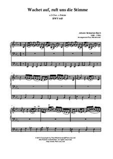 Choralvorspiele II (Schübler Chorales): Wachet auf, ruft uns die Stimme, BWV 645 by Johann Sebastian Bach